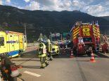 Riddes VS - Verkehrsunfall auf Viadukt