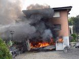 Gettnau LU - Feuer in Garage eines Wohnhauses ausgebrochen