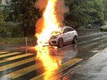 Kriens LU - Auto brennt aus