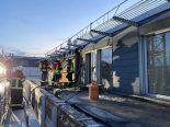 Aarau AG - Brand auf Flachdach