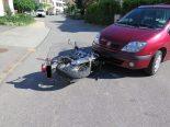 Unfall in Oltingen BL - Motorradlenker übersehen