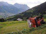 Bürglen UR: Ladewagen umgekippt: Mann erheblich verletzt