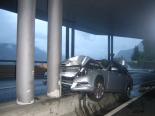 Spektakulärer Unfall in Sisikon UR