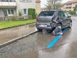 St.Gallen - Lieferwagen rollt 50 Meter die Strasse hinunter
