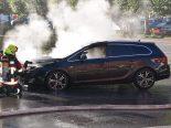 Emmetten NW - Totalschaden nach Fahrzeugbrand