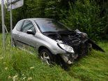 Steinach SG - Fahrunfähig Unfall auf der Autobahn gebaut