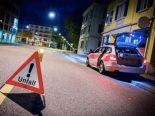 Schaffhausen - Bei Alleinunfall über Verkehrsinsel gefahren