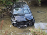 Selbstunfall in Malters LU - Personenwagen landet im Bachbett
