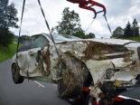 Unfall Luthern LU - Alkoholisiert mit Auto in Bach gelandet