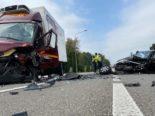 Oftringen AG - Heftiger Crash auf Gegenfahrbahn
