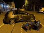 Wettingen AG - Alkoholisierter Rollerlenker prallt gegen Auto