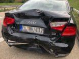Wigoltingen TG - Auffahrunfall zwischen Lieferwagen und Auto auf A7