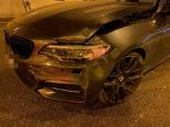 Verkehrsunfall Küttigen AG - BMW-Fahrer(19) mit Tunnelwand kollidiert