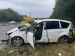 A1, Kölliken AG - Auto bei Unfall mehrmals überschlagen
