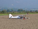 Notlandung mit Kleinmotorflugzeug in Grenchen SO
