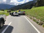 Verkehrsunfall Alvaneu Dorf GR - Frontal in entgegenkommendes Auto geprallt