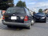 Unfall Schaffhausen - Streifkollision mit anschliessender Frontalkollision