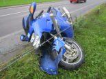 Glarus GL - Motorradlenker verunfallt auf nasser Fahrbahn