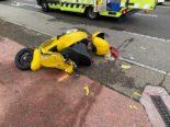 Muttenz BL - Motorradlenker (32) und Mitfahrerin bei Unfall verletzt