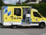 Vorderthal SZ - Motorradfahrer nach Selbstunfall leicht bis erheblich verletzt