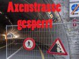 Sisikon UR - Axenstrasse wegen Steinschlag gesperrt