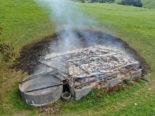 Wattwil SG - Schopf bis auf die Grundmauern niedergebrannt