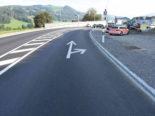 Bütschwil SG - Auffahrunfall mit zwei beteiligten Motorrädern