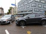 St.Gallen SG - Seitlich-frontaler Unfall auf Kreuzung