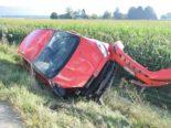 Unfall in Niederbipp BE - Auto überschlägt sich auf der A1