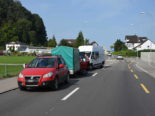Rheineck SG - Auffahrunfall mit vier beteiligten Fahrzeugen