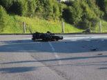 Heftiger Unfall in Appenzell Unterschlatt AI