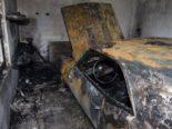 Wigoltingen TG - Brennendes Auto in einer Garage