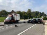Unfall Oftringen AG - Strasse gesperrt