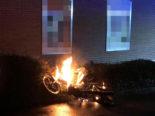 Aadorf TG - Mofa in Brand geraten