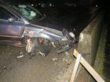Unfall Diesbach GL: Totalschaden nach Kollision mit Strassenmauer
