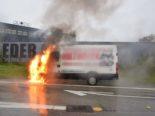 Unfall Zuchwil SO - Lieferwagen in der Ausfahrt der A5 ausgebrannt