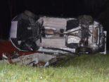 Rehetobel AR - Bei Unfall auf der Seite liegend zum Stillstand gekommen