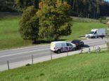 Waldstatt AR - Auffahrunfall mit drei Autos