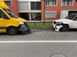 Unfall Zug - Zwei Verletzte bei Frontalkollision
