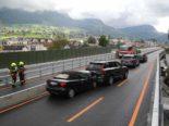A4 Seewen SZ - Zwei Auffahrunfälle fordern vier Verletzte
