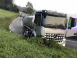 Lastwagenunfall in Mosen LU