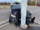 Unfall Rheinfelden AG - Mit voller Wucht in Pfosten geprallt