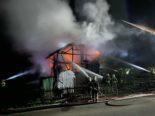 Schönholzerswilen TG: 100 Feuerwehrleute bei Scheunenbrand im Einsatz