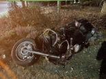 Unfall Mariahilf FR - Motorradfahrer rammt Insel: Schwer verletzt