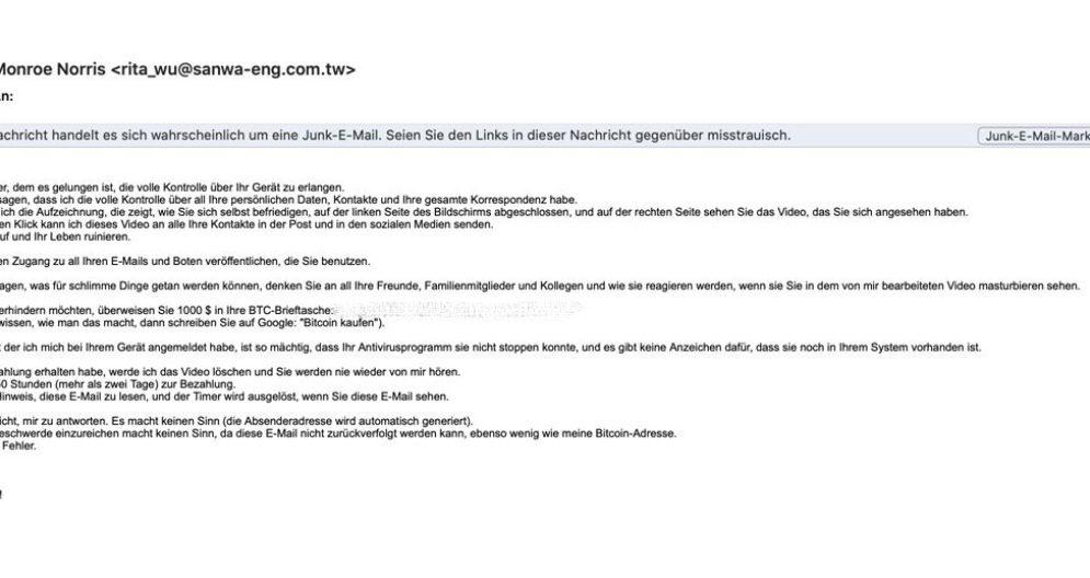 Zentralschweiz - Vorsicht fiese Erpresser-Mails im Umlauf