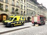Bern: Feuerwehreinsatz an der Kramgasse