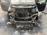 Goldach SG - Autobrand auf der A1