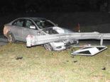 Unfall Uetliburg SG - Fahrunfähig mit Leitplanke kollidiert