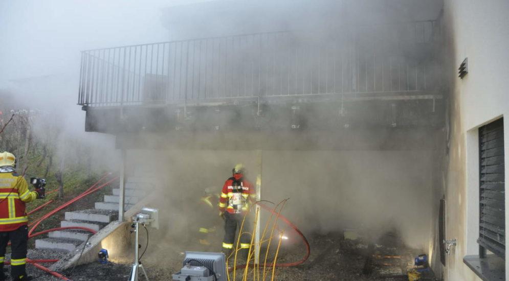 Marbach SG - Sauna eines Einfamilienhauses in Brand geraten