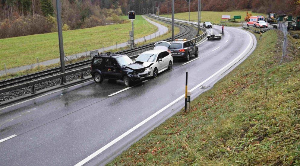 Autounfall Fideris GR: Auf Gegenfahrspur geschleudert
